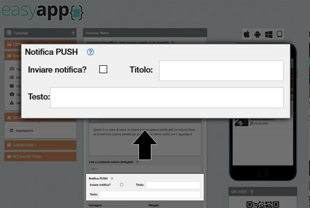 Inviare notifiche push illimitate - EasyApp